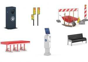 دانلود رایگان مدل سه بعدی المان های شهری